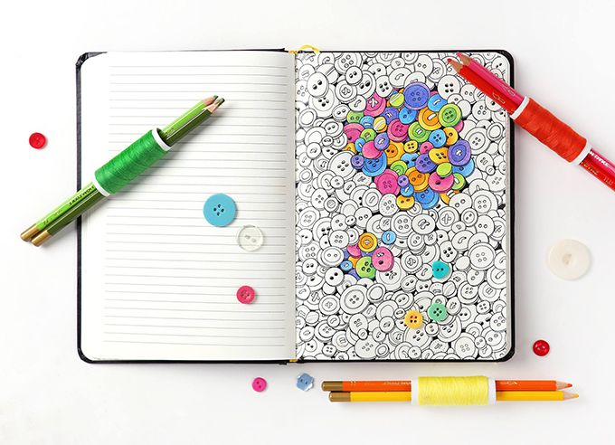 On the Creative Market Blog - Coloring Book? Notebook? Both. And We're Loving It.