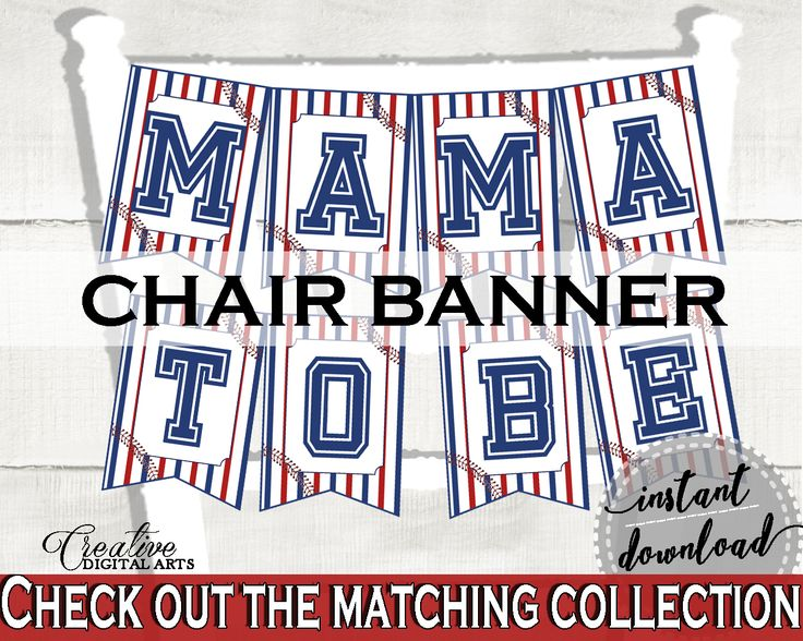 Chair Banner Baby Shower Chair Banner Baseball Baby Shower Chair Banner Baby Shower Baseball Chair Banner Blue Red instant download YKN4H #babyshowerparty #babyshowerinvites
