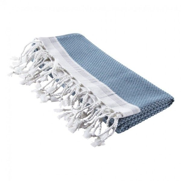 Mediterranean Bath Towel Aqua/Pewter ($48) ❤ liked on Polyvore featuring home, bed & bath, bath, bath towels, lightweight bath towels and aqua bath towels