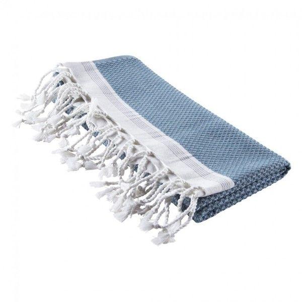 Mediterranean Bath Towel Aqua/Pewter ($48) ❤ liked on Polyvore featuring home, bed & bath, bath, bath towels, lightweight bath towels and aqua bath towels