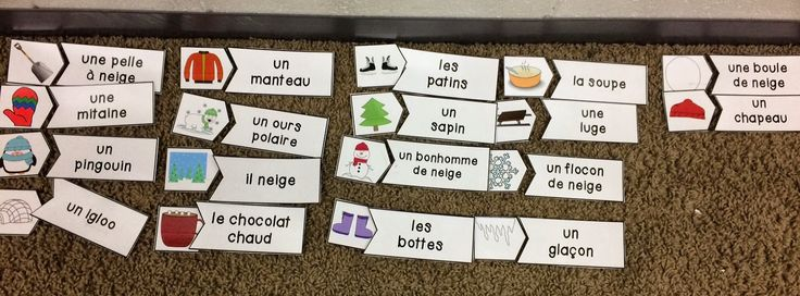 French Immersion winter activities - centre games and mini books!