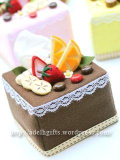 Felt Tissue Box for wedding favor