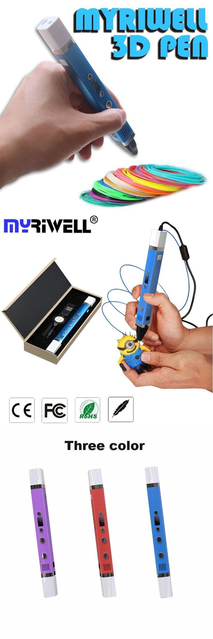 Myriwell Original Magic 3d printer pen Drawing 3D Pen with LED screen 3D impresora 3d pens for kids birthday present Useful gift #3ddrawings #3dprinterkids