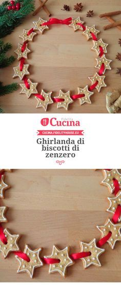 Ghirlanda di biscotti di zenzero della nostra utente Magdalena. Unisciti alla nostra Community ed invia le tue ricette!