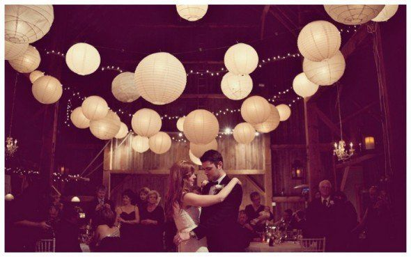 All white different sized lanterns