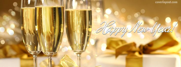 Happy New Year Drinks Facebook Cover CoverLayout.com