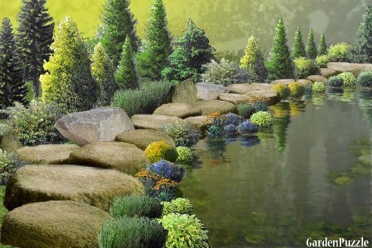 Rock Path Hike - GardenPuzzle - online garden planning tool