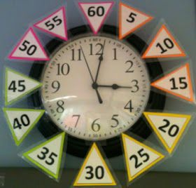 The Teachaholic: Classroom Clock Freebie