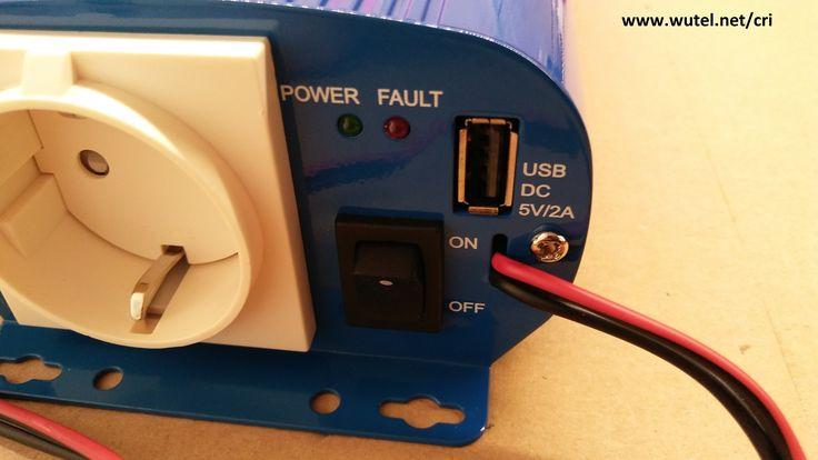 """DIY remote control ON/OFF inverter    http://www.wutel.net/cri     Controllo remoto """"fai-da-te"""" per accensione/spegnimento inverter"""