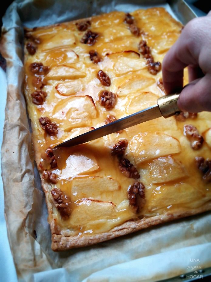 tarta de manzana ración