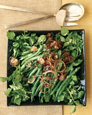 Green Bean, Watercress, and Crispy Shallot Salad | Holiday Food ...