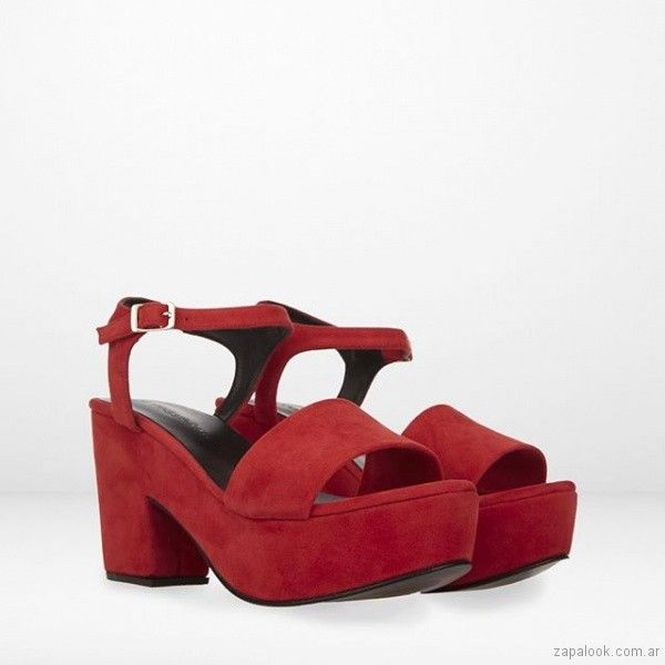 14cf291f53 sandalias rojas con plataformas verano 2019 - Maggio Rossetto   Moda ...