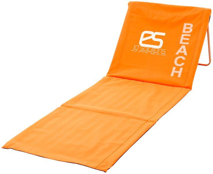 Lettino da spiaggia ripiegabile colorato con schienale  Arancione € 32,00