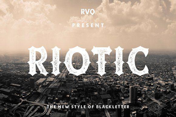 Riotic Typeface + Bonus (intro sale) by Rvq Type Foundry on @creativemarket