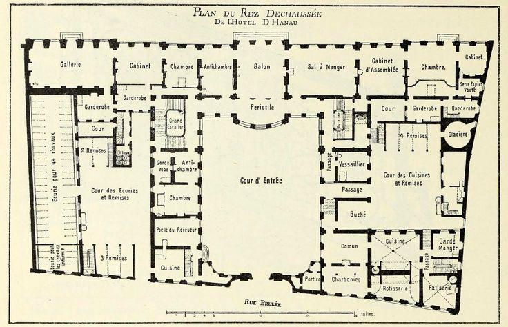 The floor plan of the h tel d hanau strasbourg castles for Castle plans build