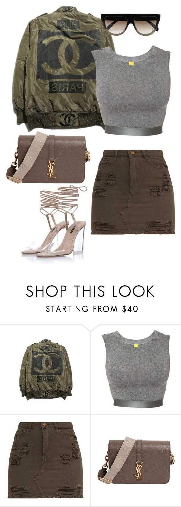 """""""Untitled #586"""" by milly-oro on Polyvore featuring NOE Undergarments, Yves Saint Laurent and CÉLINE"""