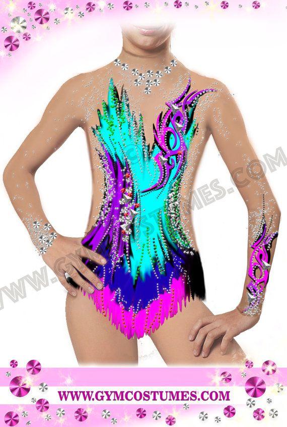 マスタークラス  ** RG - レオタード、競争新体操レオタード、曲芸のスーツ、アクロバットロックンロール、駆け巡ってダンスのドレス