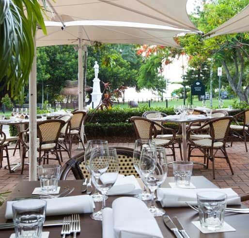 Dine at the lovely Sassi Cucina overlooking the Inlet at Port Douglas.