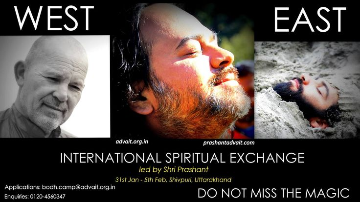 International Spiritual Exchange! Led by Acharya Shri Prashant 23rd Advait Learning camp 31 st Jan- 5th Feb, Shivpuri Utharakhand. Apply at: bodh.camp@advait.org.in Enquiries: 0120-4560347 #ShriPrashant #Advait #Learningcamp Read at:- prashantadvait.com Watch at:- www.youtube.com/c/ShriPrashant Website:- www.advait.org.in Facebook:- www.facebook.com/prashant.advait LinkedIn:- www.linkedin.com/in/prashantadvait Twitter:- https://twitter.com/Prashant_Advait