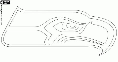 Seattle Seahawks logo, football team in the NFC West Division, Seattle, Washington coloring page