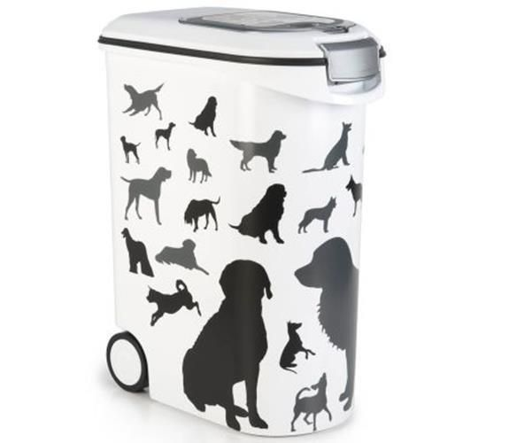 Pet Food Container Storage Refill Cat Dog Dry Box Feed Lid Wheels