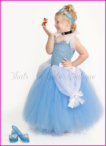Cinderella Inspired Tutu Dress...this would be so easy to make & it's SO adorable!