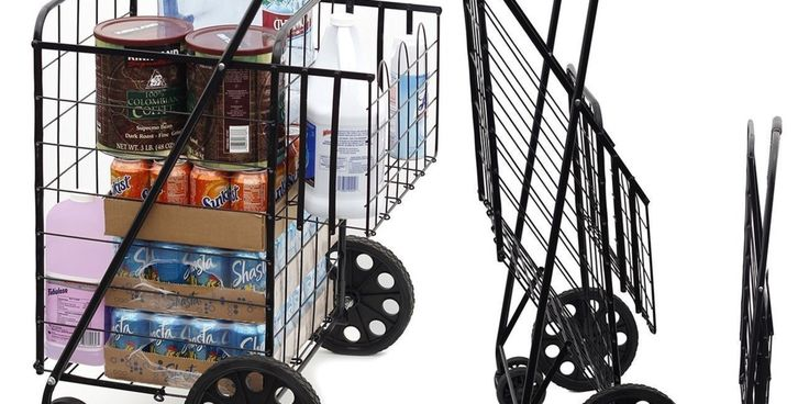 folding carts with swivel wheels. Swivel wheels on a folding shopping cart makes it so much easier to move around tight spots