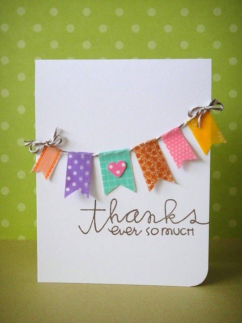 2 Girls, 1 Year, 730 Moments to Share: Obsessed with WASHI TAPE!! thank you card