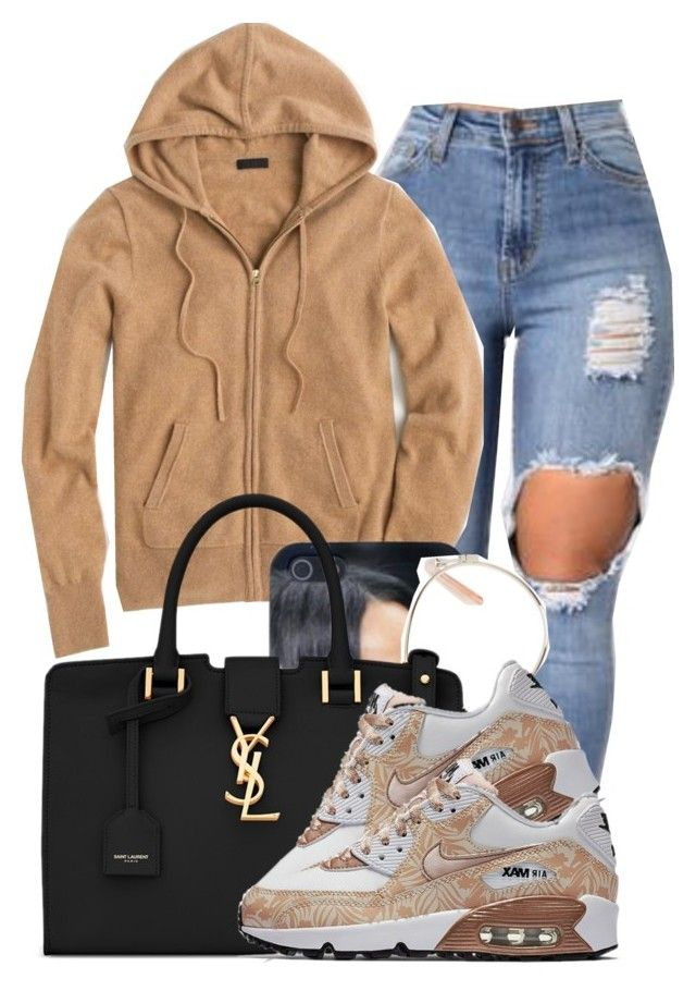 """""""Do You Mind"""" by danimack03 ❤ liked on Polyvore featuring J.Crew, Chloé, Yves Saint Laurent and NIKE"""