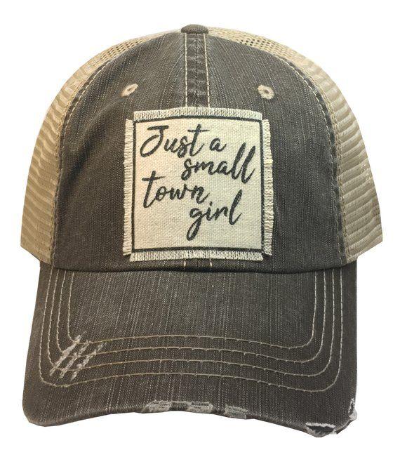 Women S Trucker Hat Baseball Cap Just A Small Town Etsy Womens Hats Baseball Girl Baseball Cap Womens Baseball Cap