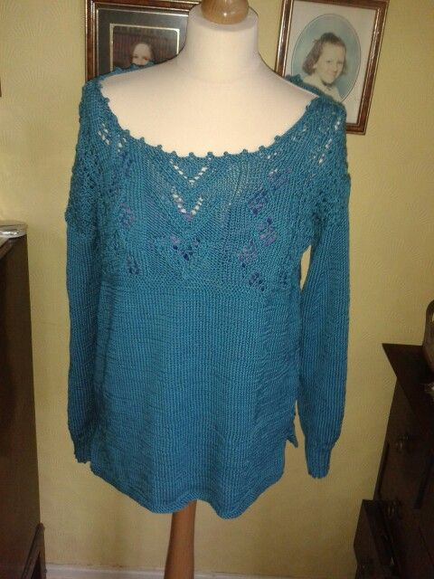Lace gansey top