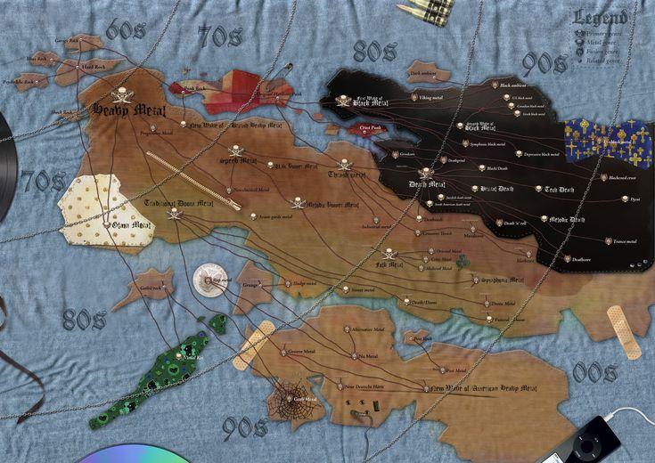 map of metal, metal, rock, punk, map, hard rock,