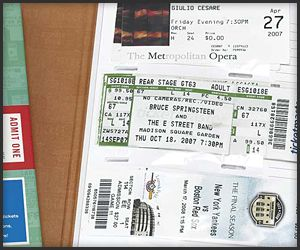Ticket Stub Diary  $10     A simple and practical way of preserving memories, the Ticket Stub Diary comes with sleeves that fit a variety of ticket sizes – or photos of your stamped wrist – and also a margin for annotation.