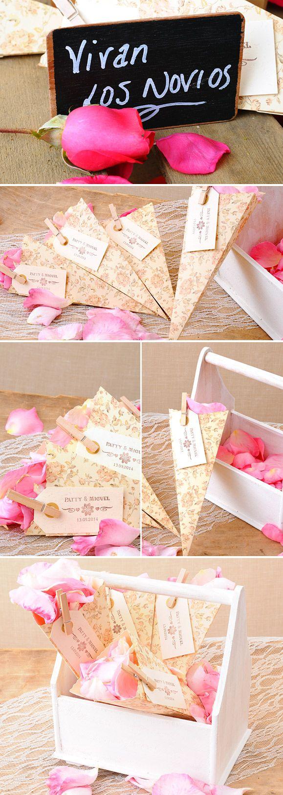 ideas muy sencillas para colocar los ptalos en vuestra boda