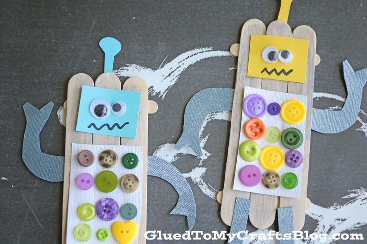 Popsicle Stick Robots - Kid Craft