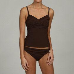 La Blanca Women's 2-piece Brown Tankini Swimsuit - Overstock™ Shopping - Top Rated La Blanca Two-piece Swimwear