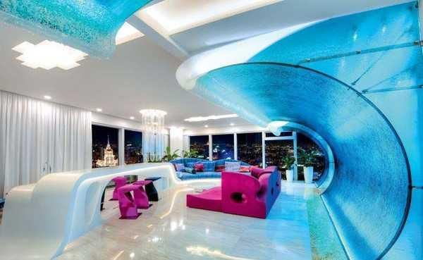 modern wall design ideas inspired by waves