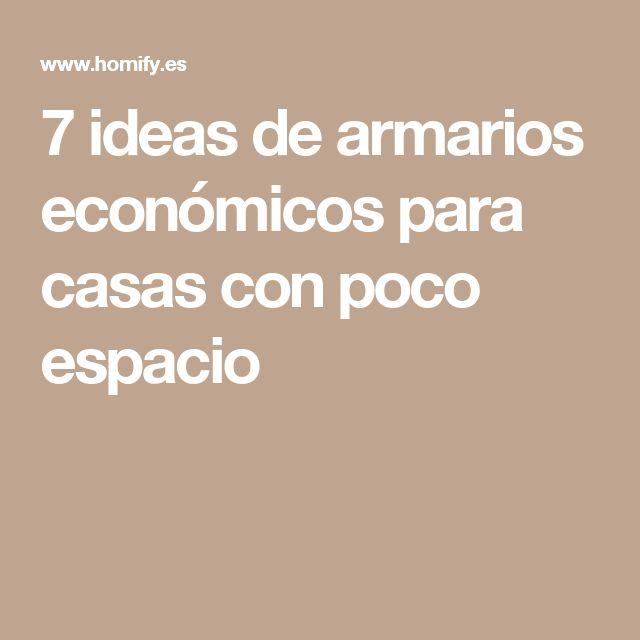 7 ideas de armarios económicos para casas con poco espacio