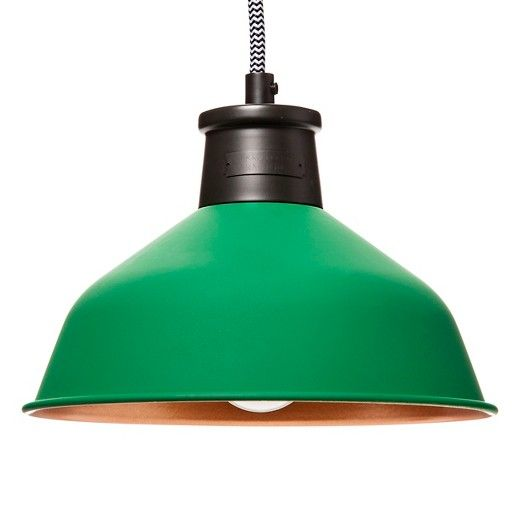 • Metal body construction<br>• 40 Watts incandescent bulb max <br>• Ceiling mount<br><br>The Beekman 1802 FarmHouse Modern Pioneer Small Pendant will add a flash of color to any room in the house. Hang it wherever you need a spot of light and color. CFL bulb included. Hardwired installation required.