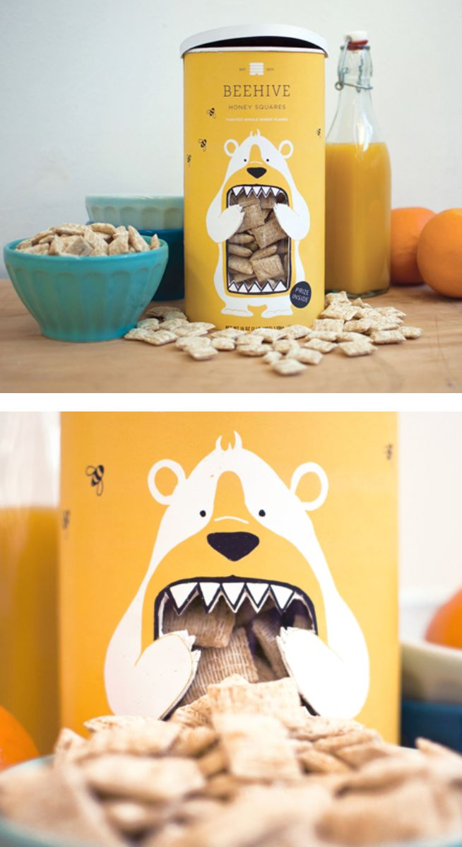Pack illustratif simple et efficace en 2 couleurs #packaging #food #design