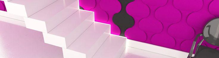 Fluffo, Fabryka Miękkich Ścian. Miękkie panele ścienne 3D, kolekcja FLOW.