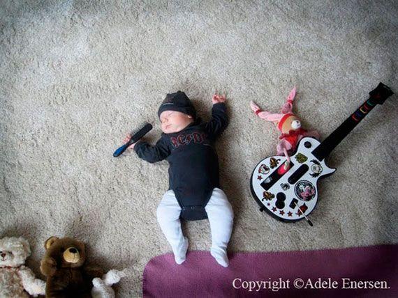 Creative baby sleeping photography by Adele Enersen