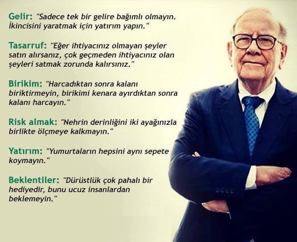 Warren Buffet'ten tavsiyeler...