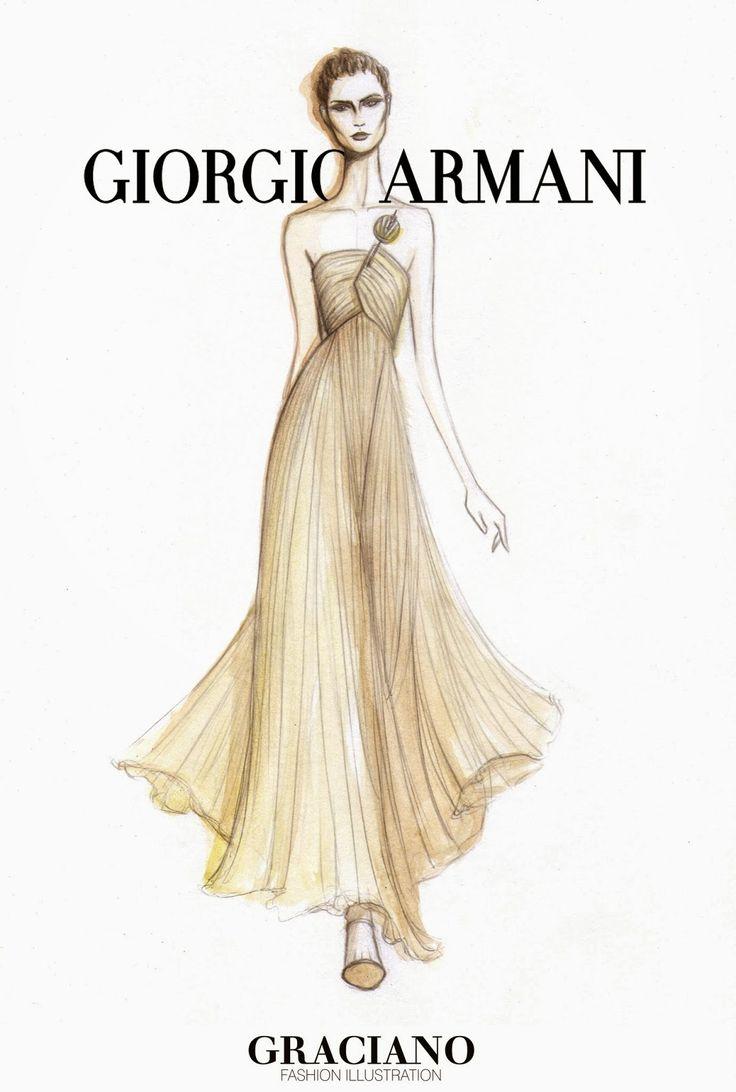 GRACIANO fashion illustration: GIORGIO ARMANI SPRING 2015 #MFW