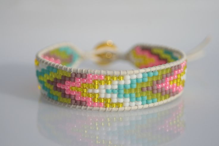 Friendship beaded loom bracelet, toho beads by ZUZILICIOUS on Etsy https://www.etsy.com/listing/230747878/friendship-beaded-loom-bracelet-toho