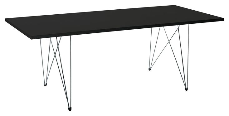 XZ3 Table - Rectangular - 200 x 90 cm Black by Magis - Design furniture and decoration with Made in Design
