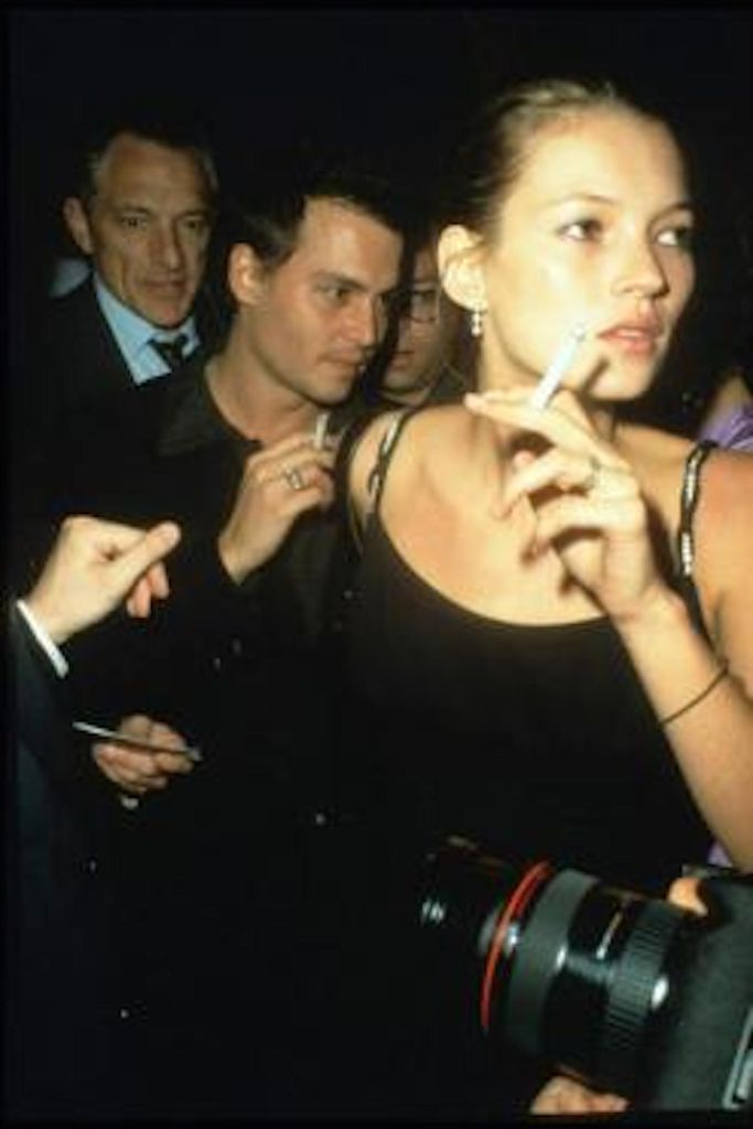 Johnny deep kate moss les bains douches paris in the for Les bains douches paris