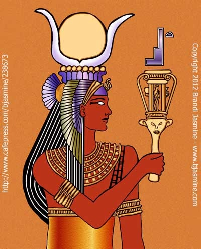 The Goddess Isis and her sacred systrum.  http://www.cafepress.com/bjasmine/238673