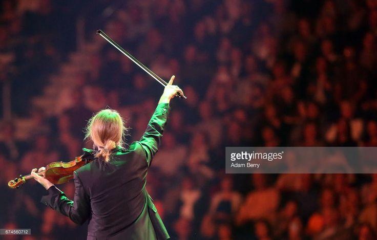 Violinist David Garrett performs at Mercedes-Benz Arena on April 28, 2017 in Berlin, Germany.