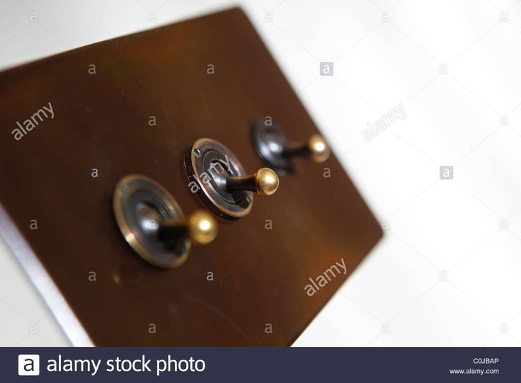 Traditional Light Switch In A Room On A White Wall Stock Photo, Royalty Free Image: 34824798 - Alamy